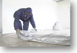 friable asbestos ceiling removal brisbane, clean up, foamshield
