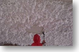 friable asbestos ceiling removal brisbane, removing with metal scrapers, foamshield
