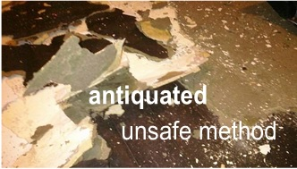 safe asbestos removal vs antiquated unsafe method